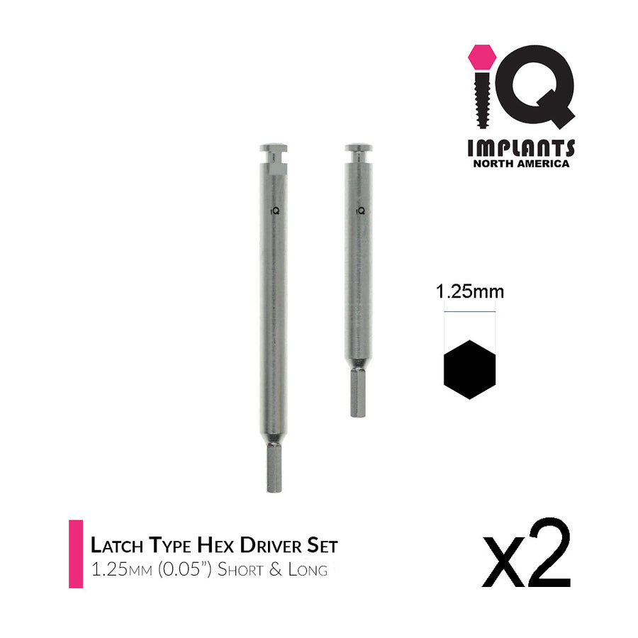 "Hex Driver Latch Type for Low Speed, 1.25mm (0.05"") Long & Short (2-Pack)"