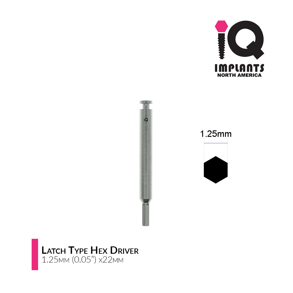 "Hex Driver Latch Type for Low Speed, 1.25mm (0.05"") x22mm"