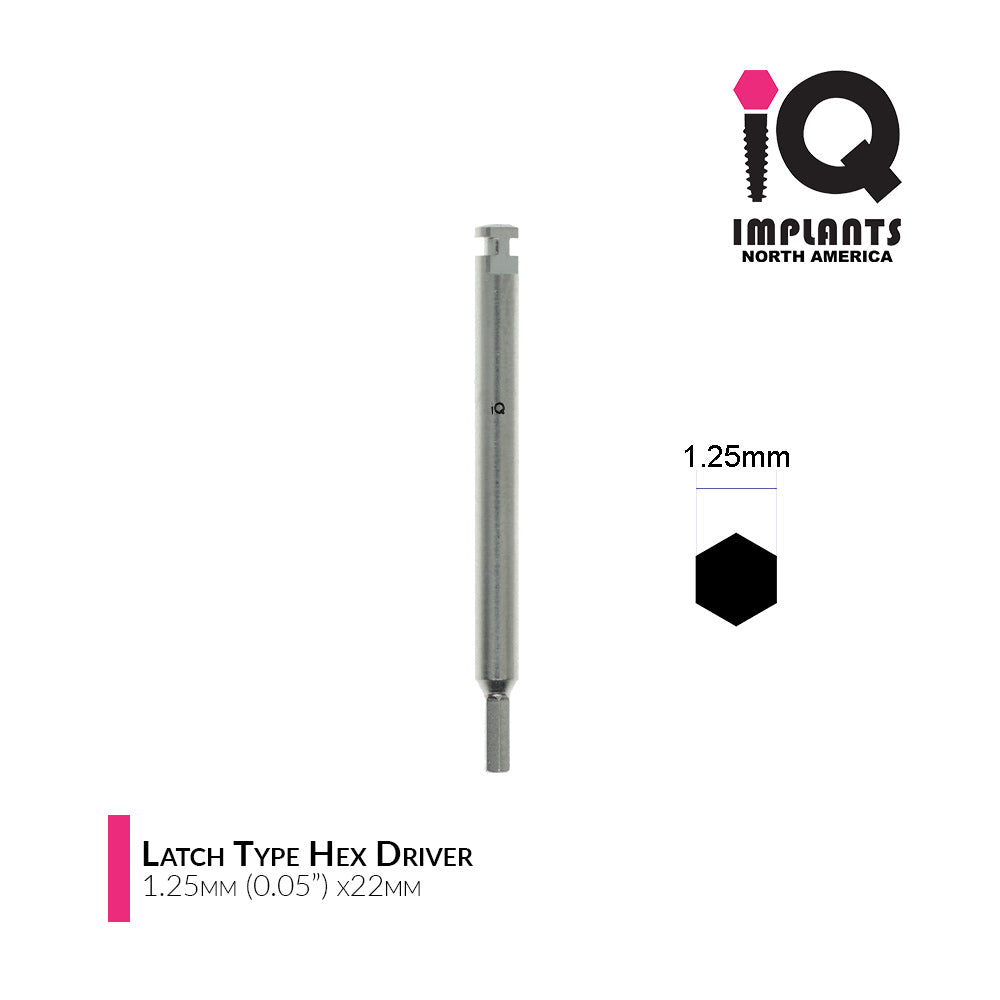 "Hex Driver Latch Type for Low Speed, 1.25mm (0.05"") x28mm"