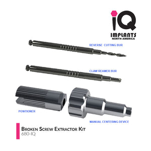 Broken Screw Extractor Kit for IQ Implants and Compatibles