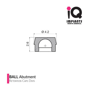 Ball Abutment Denture Replacement Housing Assembly (4 Pack)