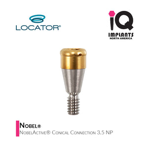 Zest LOCATOR® Abutment for Nobel® NobelActive® Conical Connection 3.5 NP,  2mm
