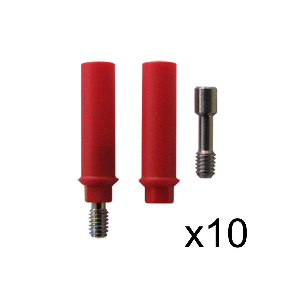 Plastic Castable Abutments with Hex (Anti-Rotational), Set of 10