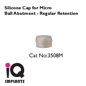 MICRO Ball Abutment Retentive Caps Standard, Clear 4-Pack