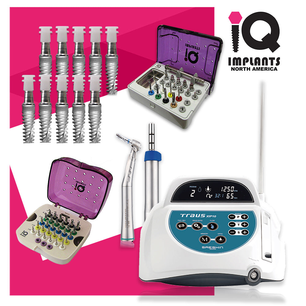 Surgical Implant Combo Premium Starter Package with Motor