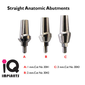Straight Anatomic Titanium Abutment (1-3mm)