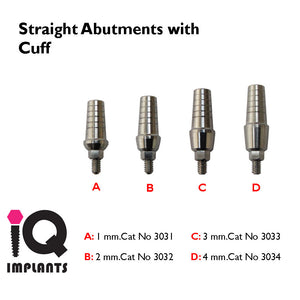 Straight Shoulder Abutment (4 available cuff sizes)