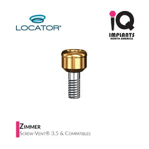 Zest LOCATOR® Abutment Zimmer 3.5 Screw-Vent & Compatibles, 2mm