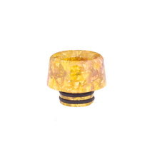 Load image into Gallery viewer, 510 Drip Tip Mushroom Colourful Resin & Gold Flake by CVSvape