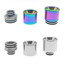 Load image into Gallery viewer, 810 or 510 2 in 1 Drip Tip Interchangeable Steel design by CVSVape