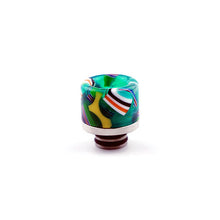 Load image into Gallery viewer, 510 Drip Tip Colourful Resin & Stainless Delrin for Valyrian by CVSvape