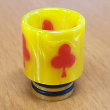 Load image into Gallery viewer, 510 Drip Tip Colouful Epoxy Resin Playing card style design by CVSvape