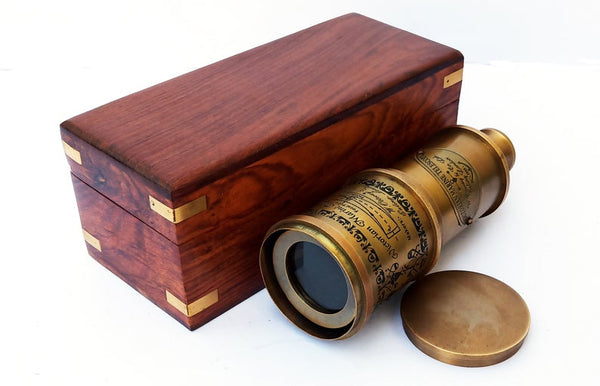 "Marine Victorian Telescope 20"" with Box by Scott Handicrafts."