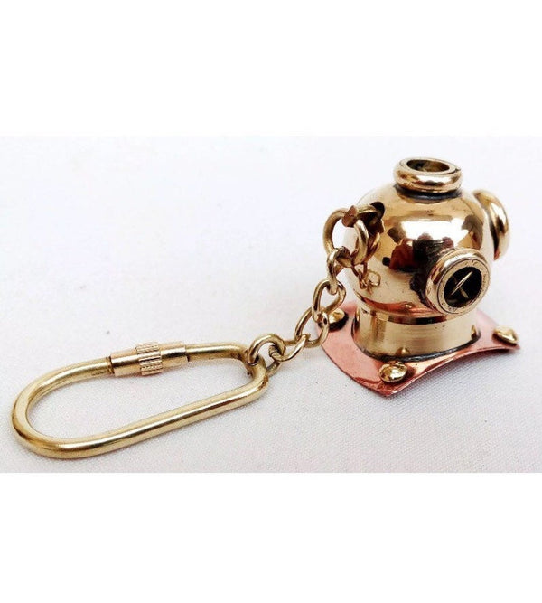 Brass Diving helmet keychain by Scott handicraft.