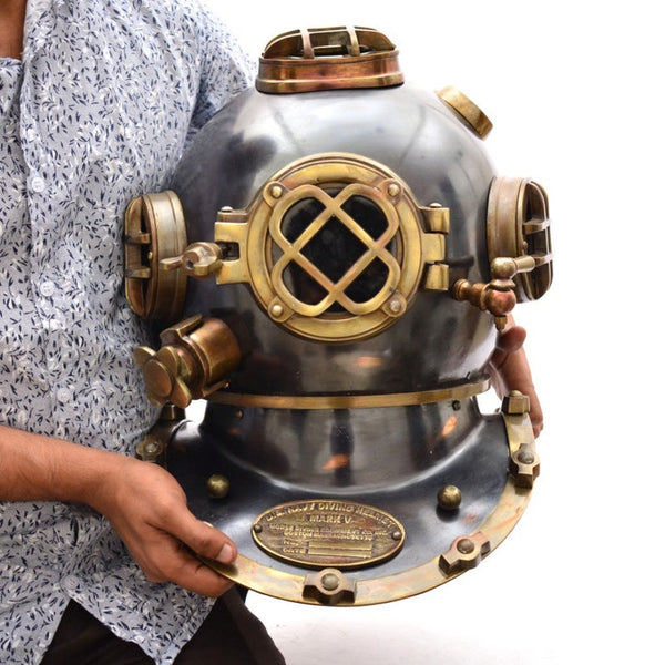 Unique Design Art Collectible deep sea helmet.