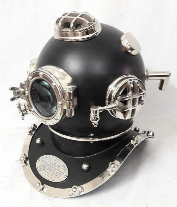 Black US Navy Diving Helmet - Mark V |  Decorative Diver's Helmet by Scott handicraft