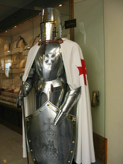 Medieval Knight Suit Full Steel Templar  Suit of Armor Wearable.
