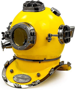 "18"" US Navy Deep sea  Diving Helmet, Yellow"