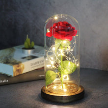 Load image into Gallery viewer, Eternal Galaxy Rose LED Light Rose In Glass Dome