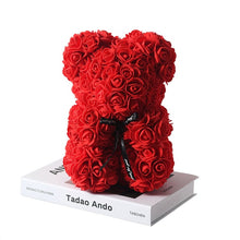 Load image into Gallery viewer, Rose Bear Gift Flower Teddy Bear - 10 in.(25cm)