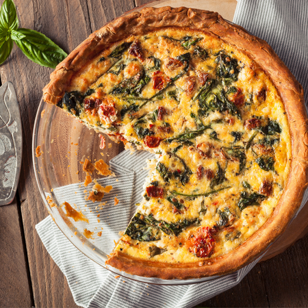 Spinach & Sundried Tomato Quiche