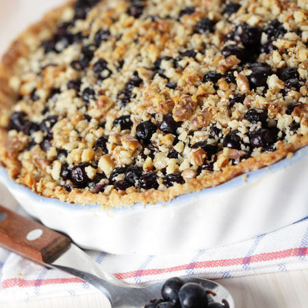 Aunt Claire's Blueberry Doobie Pie