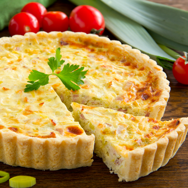 Caramelized Onions & Goat Cheese Quiche