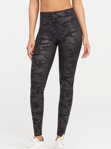 Faux Leather Camo Spanx