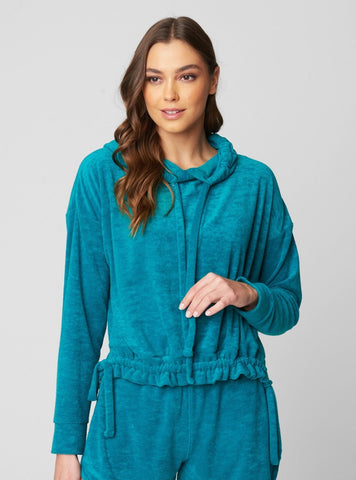 Terry Teal Sweatshirt