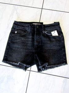 Washed Black Shorts