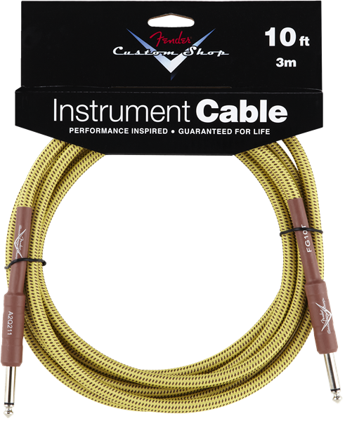 Fender® Custom Shop Cable, 10', Tweed
