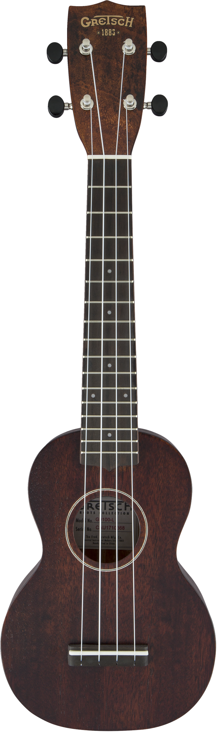 Gretsch G9100-L Soprano Long-Neck Ukulele with Gig Bag, Ovangkol Fingerboard - Vintage ...