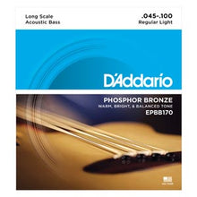 Load image into Gallery viewer, D'Addario EPBB170 Phosphor Bronze Acoustic Bass Guitar Strings - Long, 45-100