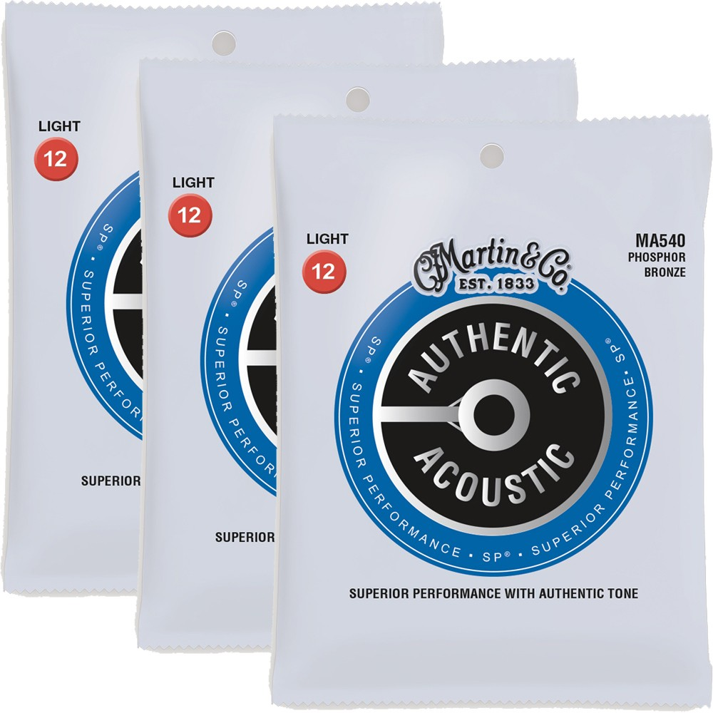 Martin MA540 Acoustic Guitar Strings 3pack
