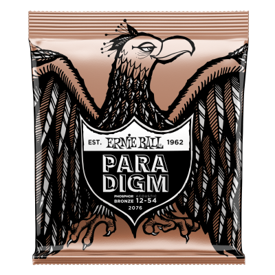 Ernie Ball 2076 Paradigm Acoustic Strings - Phosphor Bronze Medium-Light 12-54