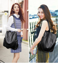 Load image into Gallery viewer, Women Waterproof anti-theft Leather Backpacks