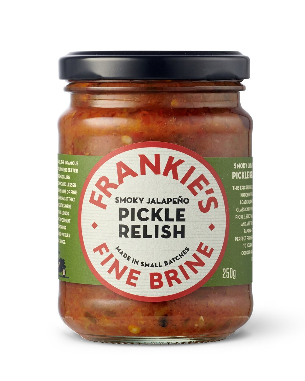 Frankies Fine Brine Smoky Jalapeno Pickle Relish 250g