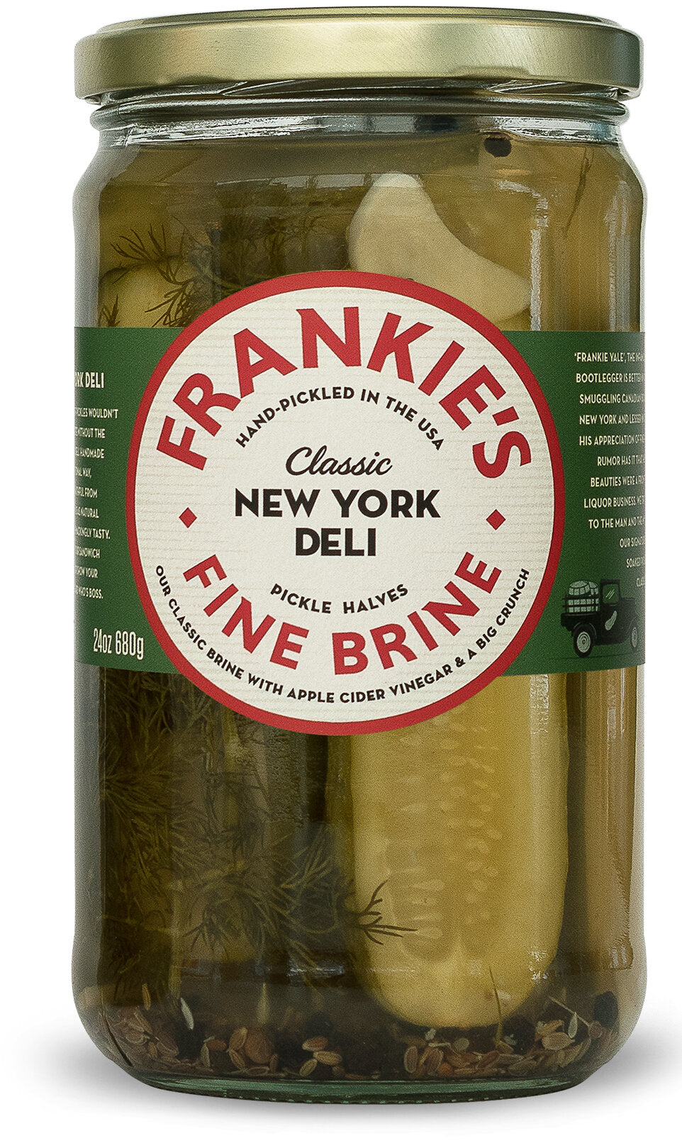 Frankies Fine Brine New York Pickles 680g