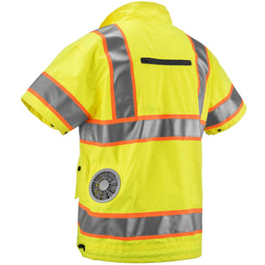 Cooling Vest - High Visibility with Lithium Ion Battery (YELLOW)-Zippkool-Atlas Preservation