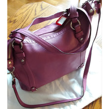 Load image into Gallery viewer, Coach Fuchsia Pebbled Leather (Large Bag)