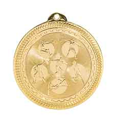 "2"" Bright Gold Field Events Laserable BriteLazer Medal"