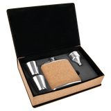 6 oz. Cork Flask Gift Set