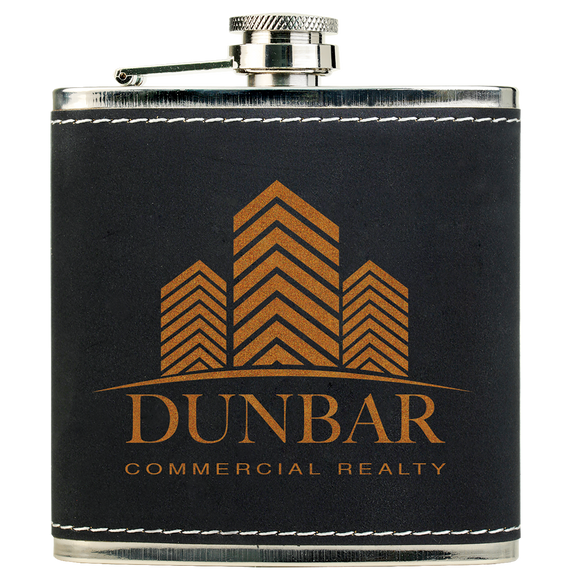 6 oz. Light Black/Gold Textured Stainless Steel Flask