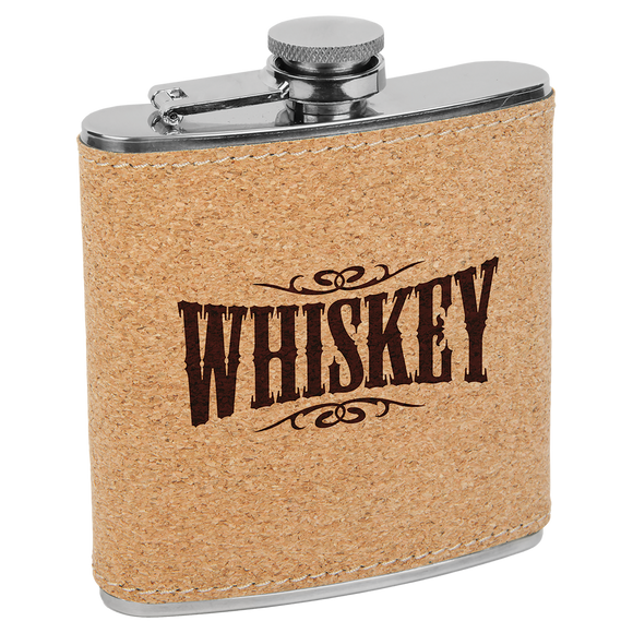 6oz. Cork Stainless Steel Flask