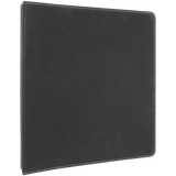"10 1/2"" x 11 1/2"" Black/Silver Laserable Leatherette 3 Ring Binder w/1"" Rings"