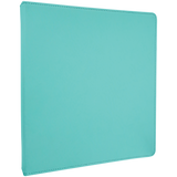 "10 1/2"" x 11 1/2"" Teal Laserable Leatherette 3 Ring Binder w/1"" Slant Rings"