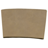 "3"" Light Brown Laserable Leatherette Mug Sleeve"
