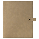 "8 3/4"" x 11"" Light Brown Leatherette Book/Bible Cover with Snap Closure"