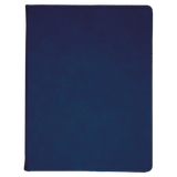 "9 1/2"" x 12"" Blue/Black Laserable Leatherette Portfolio with Notepad"