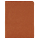 "9 1/2"" x 12"" Rawhide with Zipper Laserable Leatherette Portfolio with Notepad"